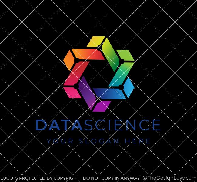 641-Trendy-Data-Science-Stock-Logo