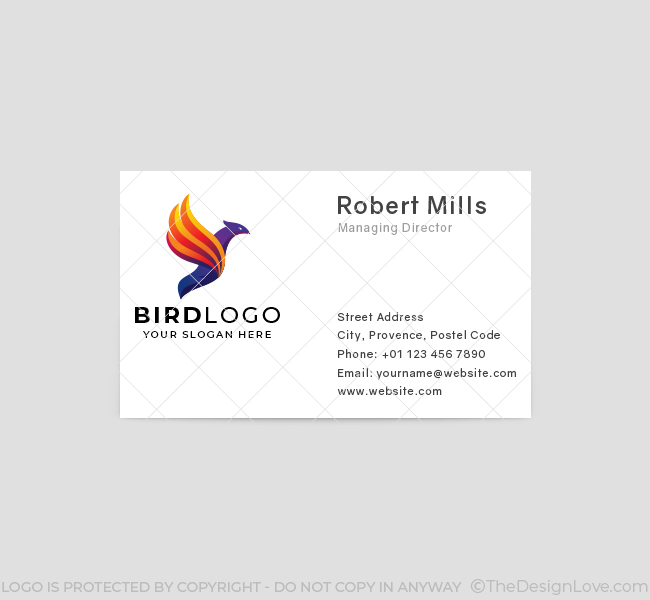 646-Flying-Bird-Business-Card-Front